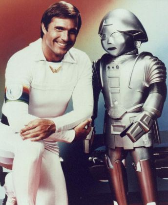 Buck Rogers and his sidekick Nipples, I mean Tweaky, er, Twiki!