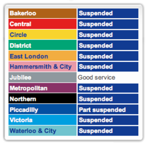Ah! Another good day for Transport for London.